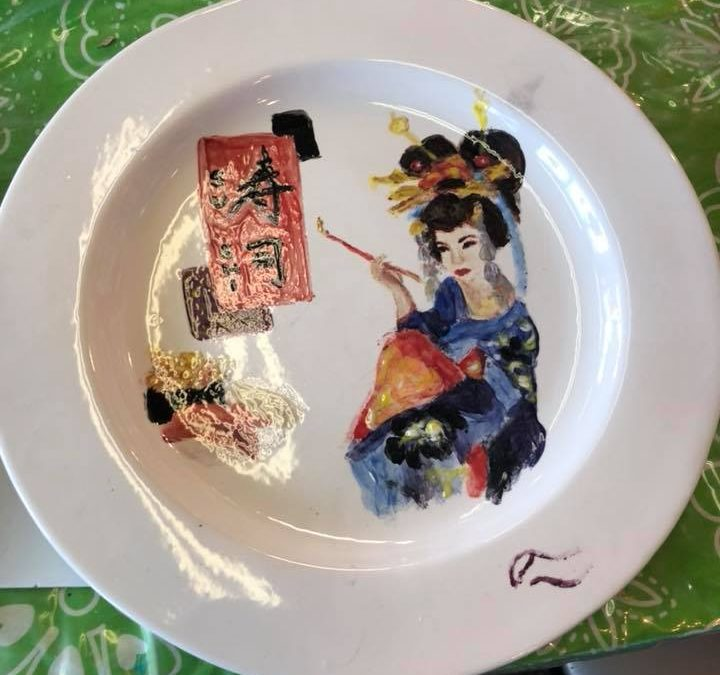 Edmonton's Food Bank – plates decoration by NOA artists